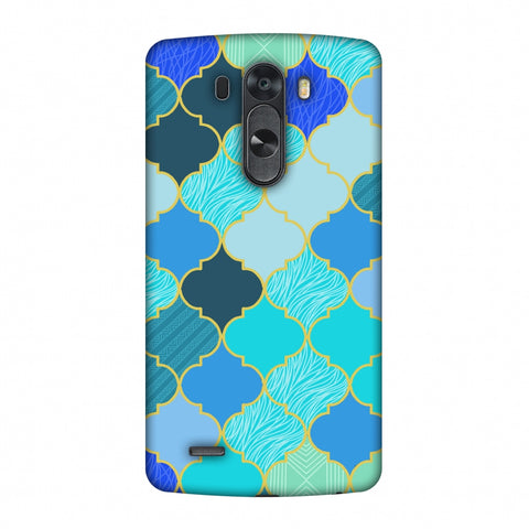 Stained Glass - Carribean Blue Slim Hard Shell Case For LG G4