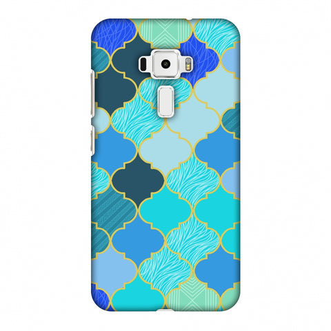 Stained Glass - Carribean Blue Slim Hard Shell Case For Asus Zenfone 3 ZE520KL