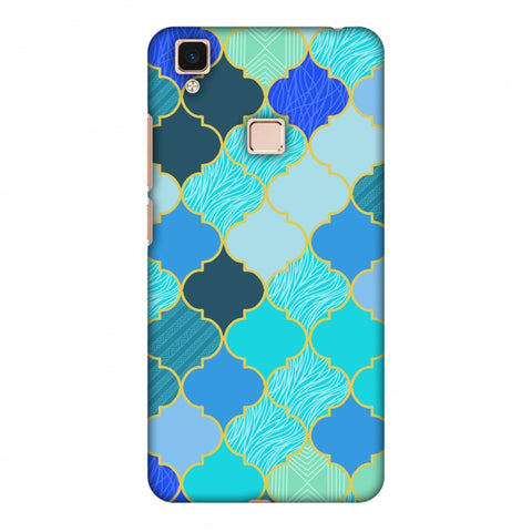 Stained Glass - Carribean Blue Slim Hard Shell Case For Vivo V3 Max