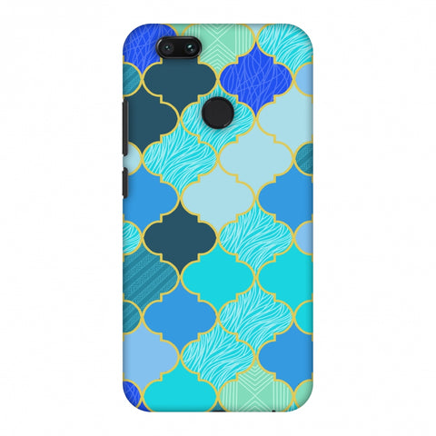 Stained Glass - Carribean Blue Slim Hard Shell Case For Xiaomi MI A1-5X