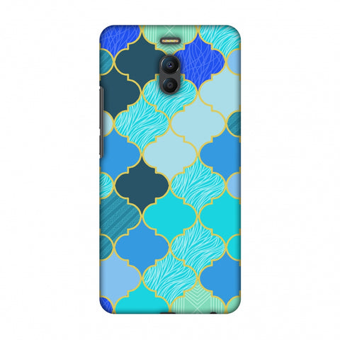 Stained Glass - Carribean Blue Slim Hard Shell Case For Meizu Note 6