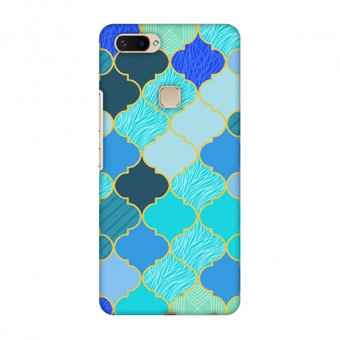 Stained Glass - Carribean Blue Slim Hard Shell Case For Vivo X20 Plus