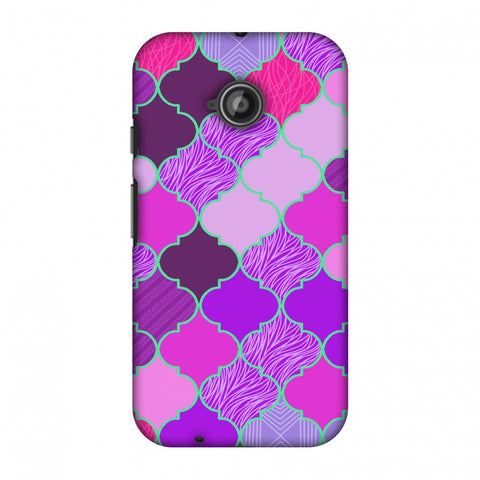 Stained Glass - Cerise Pink Slim Hard Shell Case For Motorola Moto E 2nd Gen