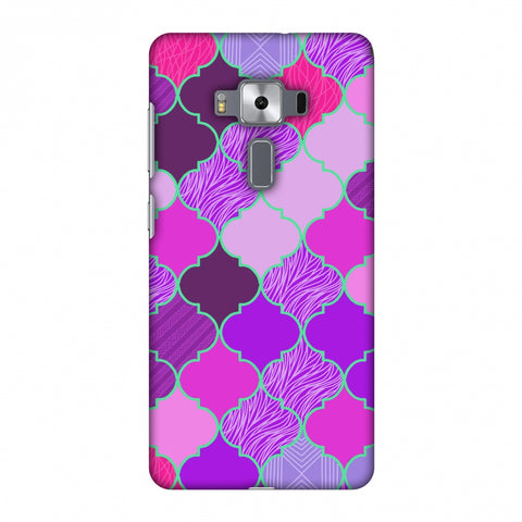 Stained Glass - Cerise Pink Slim Hard Shell Case For Asus Zenfone 3 Deluxe ZS570KL