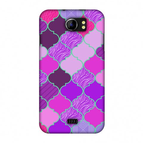 Stained Glass - Cerise Pink Slim Hard Shell Case For Micromax Canvas 2 A110