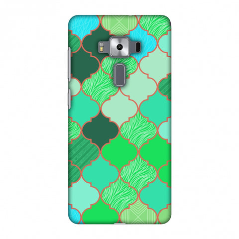 Stained Glass - American Green Slim Hard Shell Case For Asus Zenfone 3 Deluxe ZS570KL