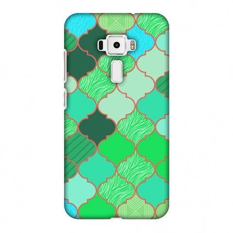 Stained Glass - American Green Slim Hard Shell Case For Asus Zenfone 3 ZE520KL
