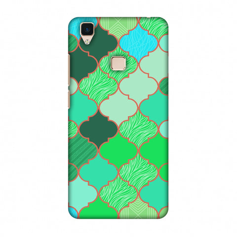 Stained Glass - American Green Slim Hard Shell Case For Vivo V3