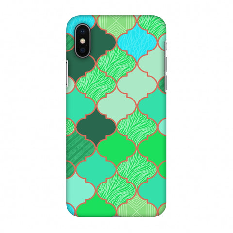 Stained Glass - American Green Slim Hard Shell Case For Apple iPhone X