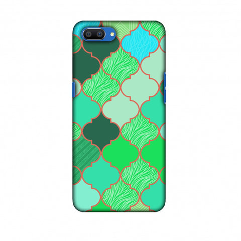 Stained Glass - American Green Slim Hard Shell Case For Oppo Realme C1