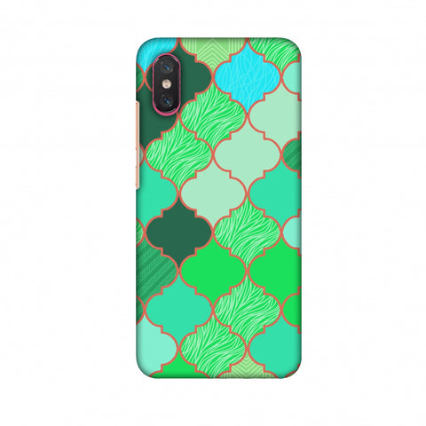 Stained Glass - American Green Slim Hard Shell Case For Xiaomi Mi 8 Pro