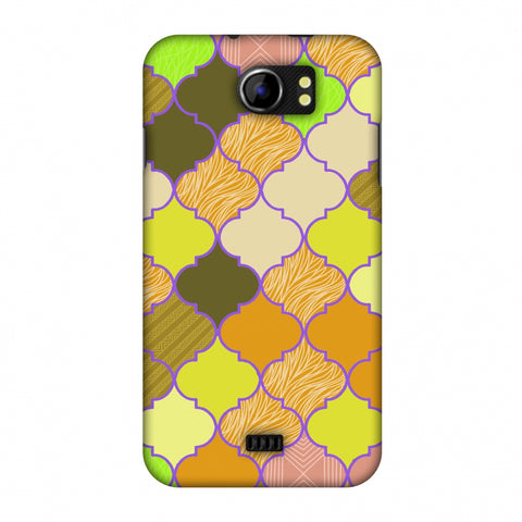 Stained Glass - Chocolate Orange Slim Hard Shell Case For Micromax Canvas 2 A110