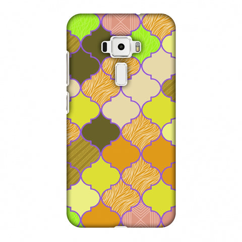 Stained Glass - Chocolate Orange Slim Hard Shell Case For Asus Zenfone 3 ZE520KL
