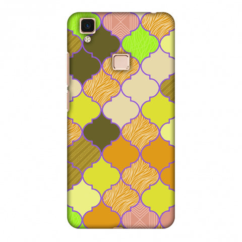 Stained Glass - Chocolate Orange Slim Hard Shell Case For Vivo V3 Max