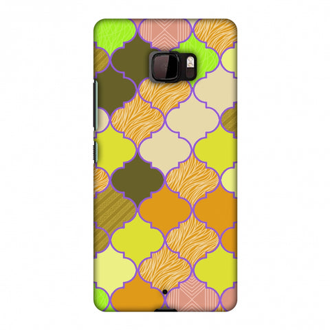 Stained Glass - Chocolate Orange Slim Hard Shell Case For HTC U Ultra