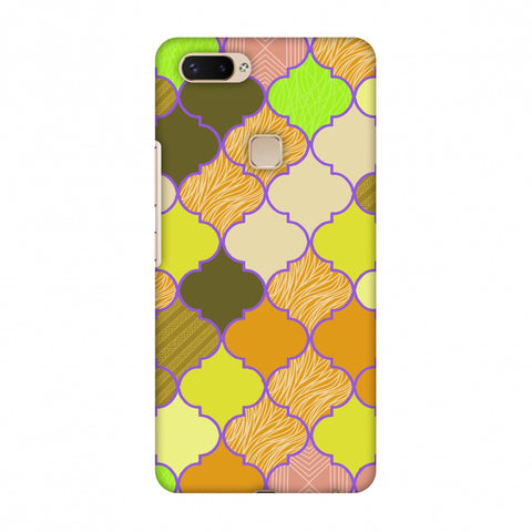 Stained Glass - Chocolate Orange Slim Hard Shell Case For Vivo X20 Plus