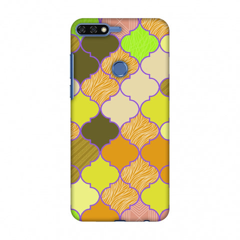 Stained Glass - Chocolate Orange Slim Hard Shell Case For Huawei Honor 7C