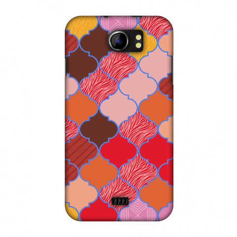 Stained Glass - Christmas Red Slim Hard Shell Case For Micromax Canvas 2 A110