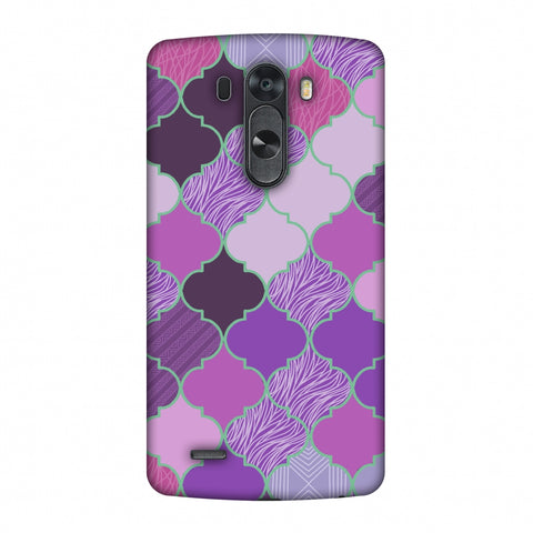 Stained Glass - Lavender Slim Hard Shell Case For LG G4