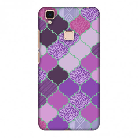 Stained Glass - Lavender Slim Hard Shell Case For Vivo V3 Max