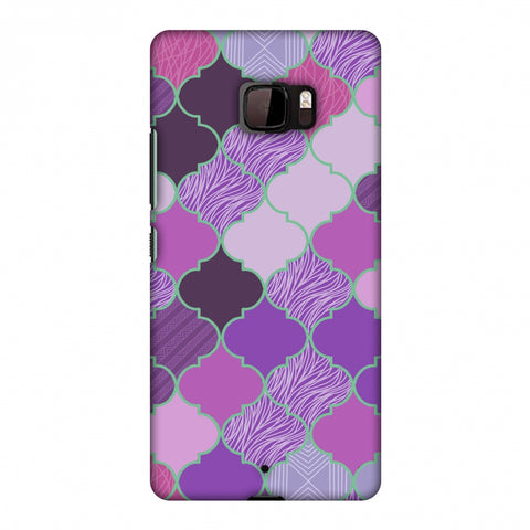 Stained Glass - Lavender Slim Hard Shell Case For HTC U Ultra