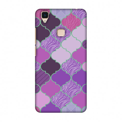 Stained Glass - Lavender Slim Hard Shell Case For Vivo V3