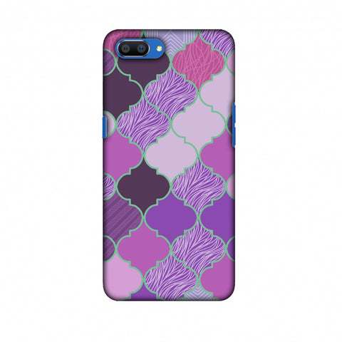 Stained Glass - Lavender Slim Hard Shell Case For Oppo Realme C1