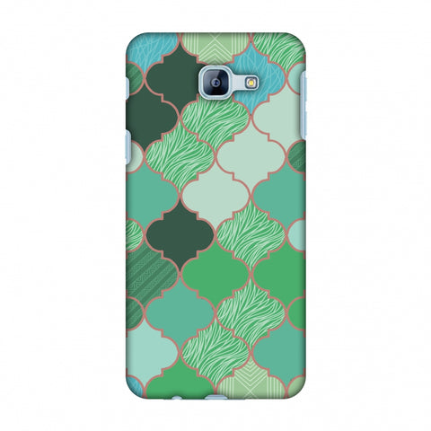 Stained Glass - Aquamarine Slim Hard Shell Case For Samsung Galaxy A8 2016