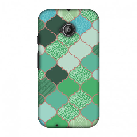 Stained Glass - Aquamarine Slim Hard Shell Case For Motorola Moto E 2nd Gen