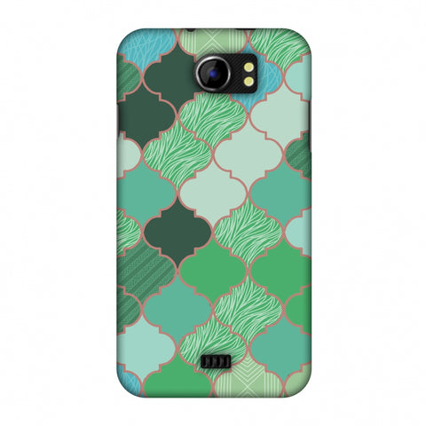 Stained Glass - Aquamarine Slim Hard Shell Case For Micromax Canvas 2 A110