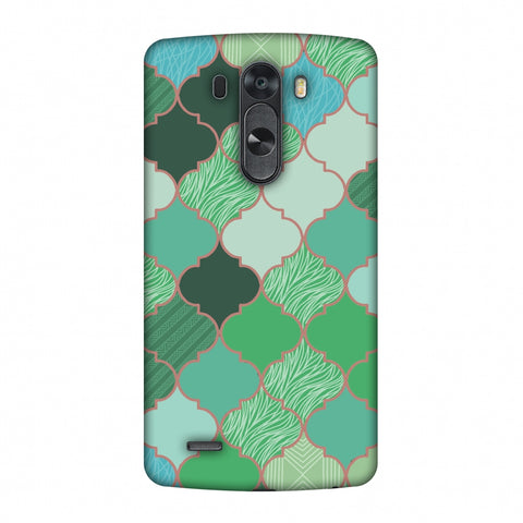 Stained Glass - Aquamarine Slim Hard Shell Case For LG G4