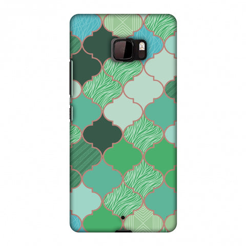 Stained Glass - Aquamarine Slim Hard Shell Case For HTC U Ultra
