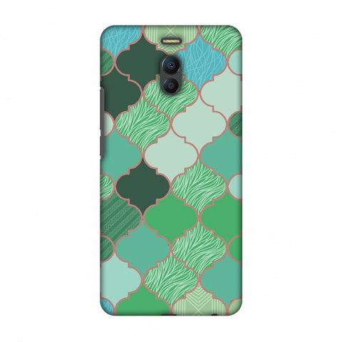 Stained Glass - Aquamarine Slim Hard Shell Case For Meizu Note 6