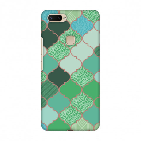 Stained Glass - Aquamarine Slim Hard Shell Case For Vivo X20 Plus