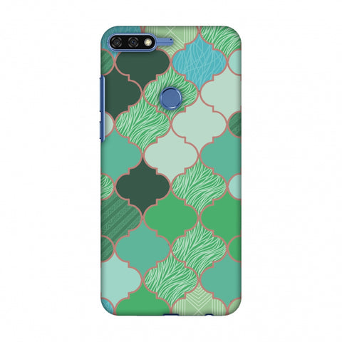 Stained Glass - Aquamarine Slim Hard Shell Case For Huawei Honor 7C