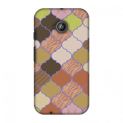 Stained Glass - Mud Brown And Cotton CAndy Slim Hard Shell Case For Motorola Moto E 2nd Gen