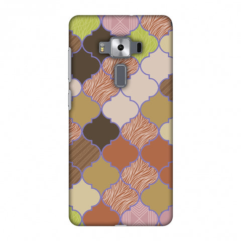 Stained Glass - Mud Brown And Cotton CAndy Slim Hard Shell Case For Asus Zenfone 3 Deluxe ZS570KL