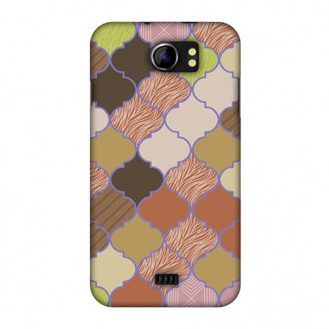 Stained Glass - Mud Brown And Cotton CAndy Slim Hard Shell Case For Micromax Canvas 2 A110