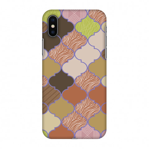 Stained Glass - Mud Brown And Cotton CAndy Slim Hard Shell Case For Apple iPhone X