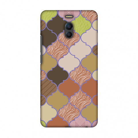 Stained Glass - Mud Brown And Cotton CAndy Slim Hard Shell Case For Meizu Note 6