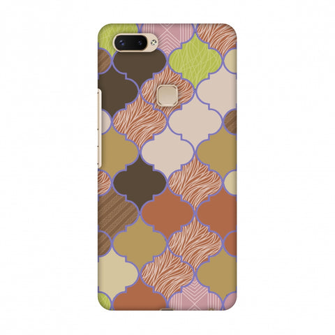 Stained Glass - Mud Brown And Cotton CAndy Slim Hard Shell Case For Vivo X20 Plus