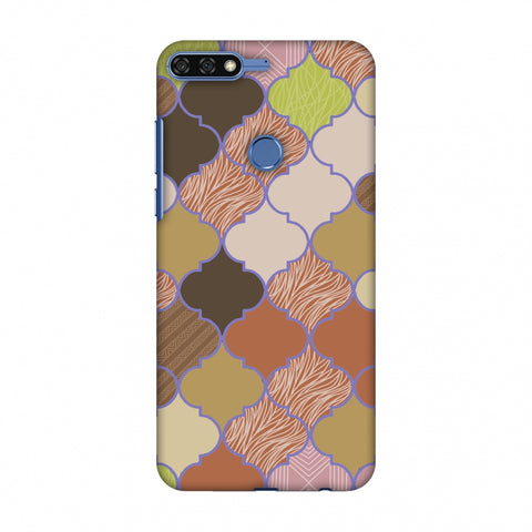 Stained Glass - Mud Brown And Cotton CAndy Slim Hard Shell Case For Huawei Honor 7C