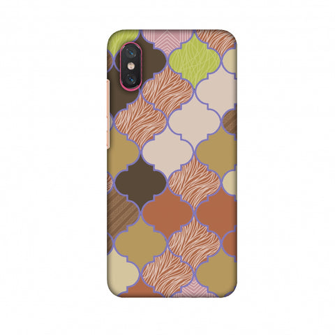 Stained Glass - Mud Brown And Cotton CAndy Slim Hard Shell Case For Xiaomi Mi 8 Pro