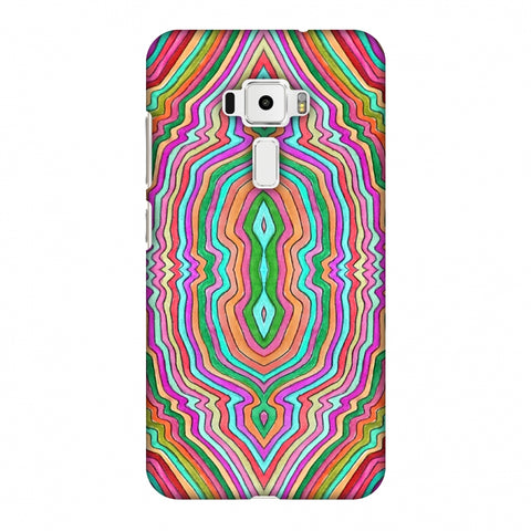 Psychedelic Waters - Dark Red Slim Hard Shell Case For Asus Zenfone 3 ZE520KL