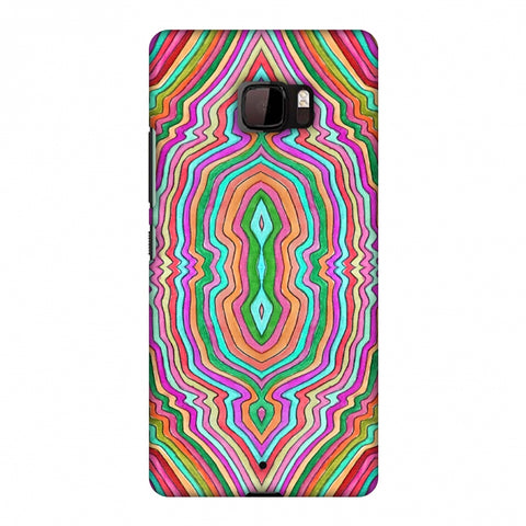 Psychedelic Waters - Dark Red Slim Hard Shell Case For HTC U Ultra