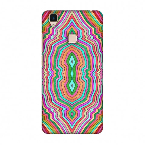 Psychedelic Waters - Dark Red Slim Hard Shell Case For Vivo V3