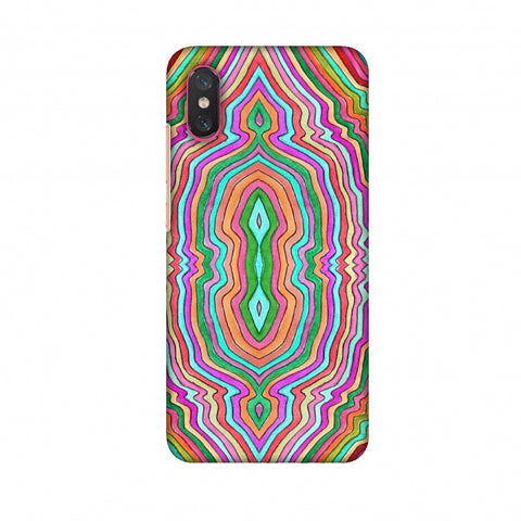 Psychedelic Waters - Dark Red Slim Hard Shell Case For Xiaomi Mi 8 Pro
