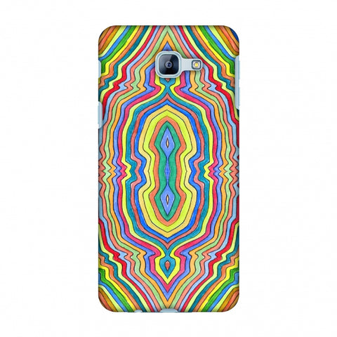 Psychedelic Waters - Warm Yellow Slim Hard Shell Case For Samsung Galaxy A8 2016
