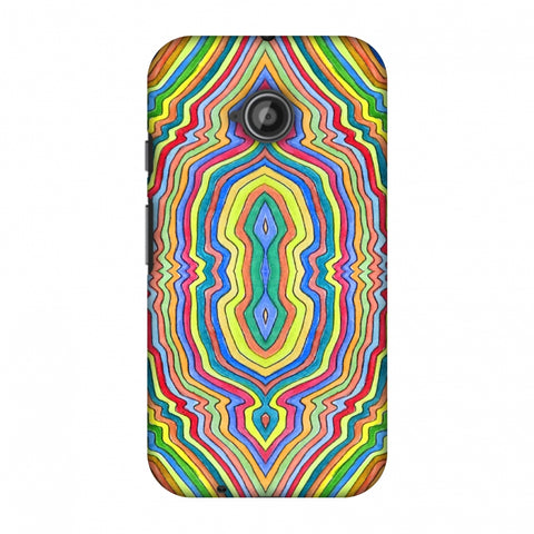 Psychedelic Waters - Warm Yellow Slim Hard Shell Case For Motorola Moto E 2nd Gen