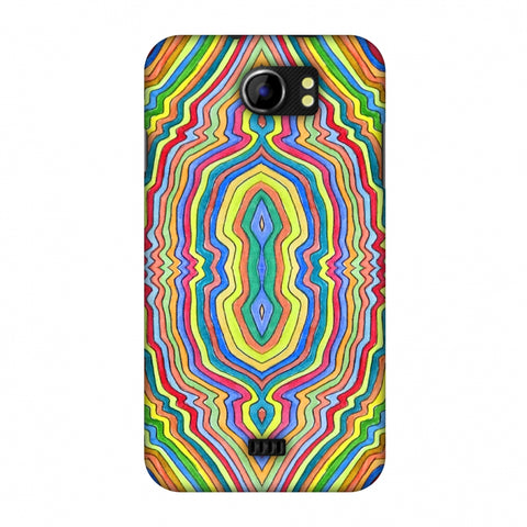 Psychedelic Waters - Warm Yellow Slim Hard Shell Case For Micromax Canvas 2 A110